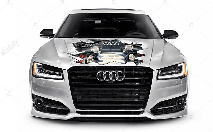 Spezialfolierung Audi Motor